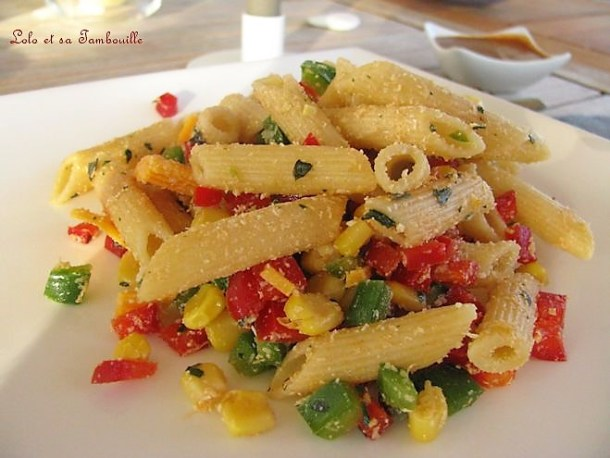 Salade tricolore à la mimolette & parmesan