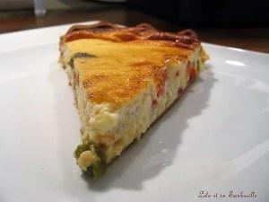 Tarte au fromage blanc aux poivrons