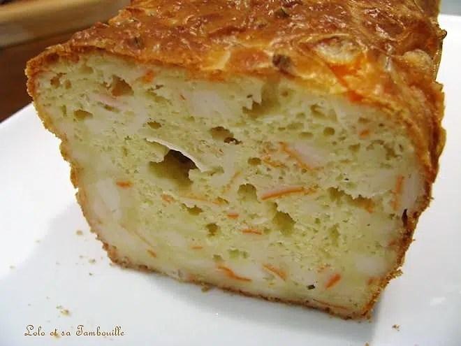 Cake au surimi & fromage de chèvre