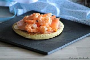 Blinis au saumon fumé & crevettes (2)