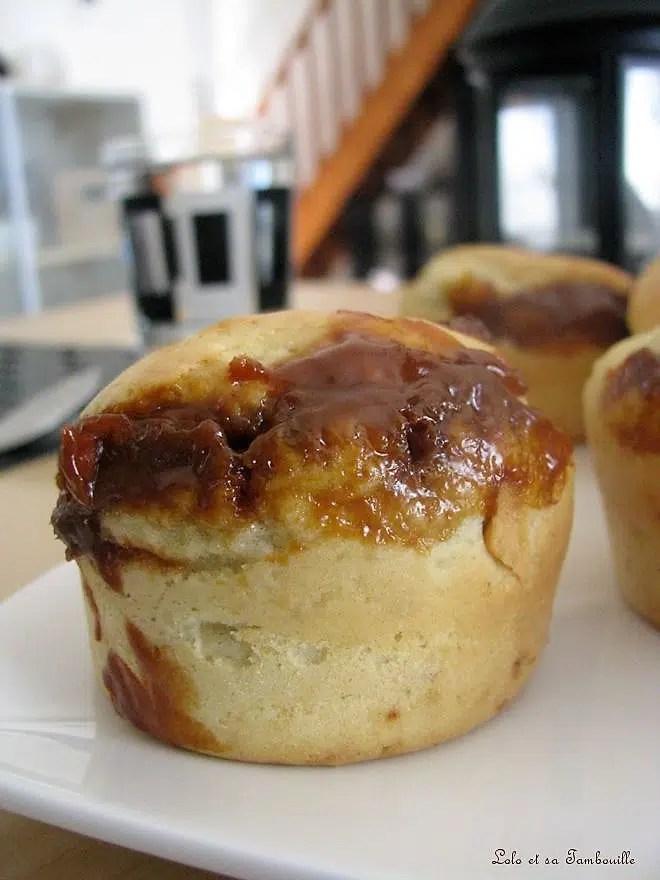 Muffins coeur coulant de confiture de lait au caramel au beurre salé
