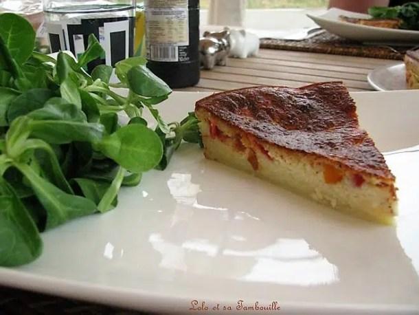 Quiche sans pâte au chorizo & poivrons grillés