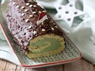 Bûche pistache & chocolat (4)