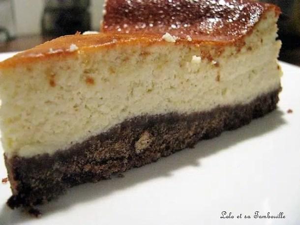 Tarte au fromage blanc & crème de nougat blanc