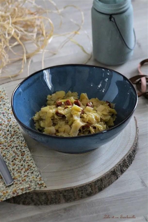 Fondue de poireaux au chorizo & parmesan