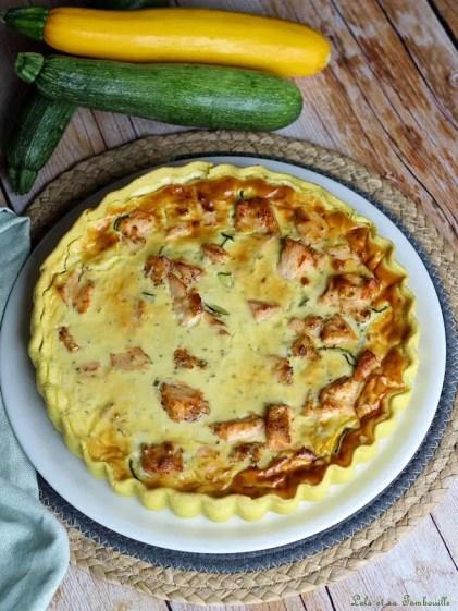 Tarte aux courgettes & saumon (2)