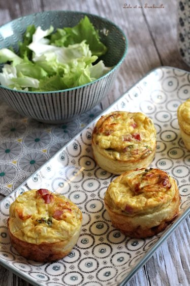 Flans aux d&s de jambon & moutarde (3)