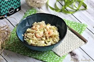Pâtes aux poireaux & crevettes (4)
