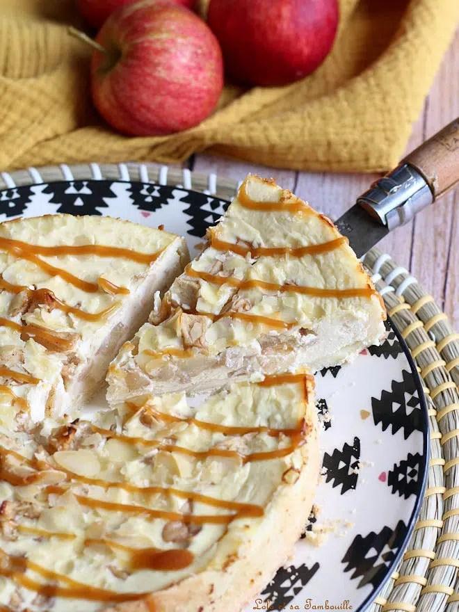 Tarte aux pommes façon cheesecake, tarte cheesecake aux pommes