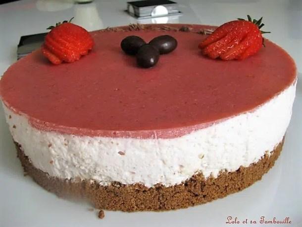 Bavarois aux fraises & spéculoos
