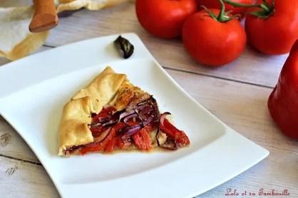 Tarte tomate, poivrons grillés & mozzarella (6)
