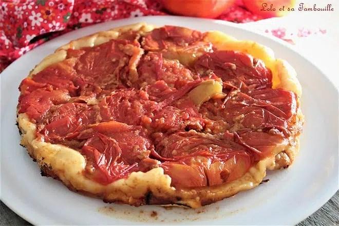 Tarte tatin aux tomates & vinaigre balsamique