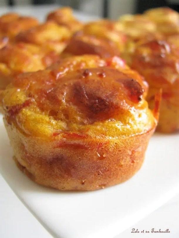 Muffins aux poivrons, bacon & pâte de curry indienne