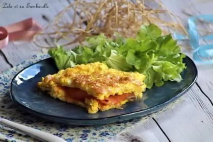 Tortilla de saumon fumé & mozzarella (2)