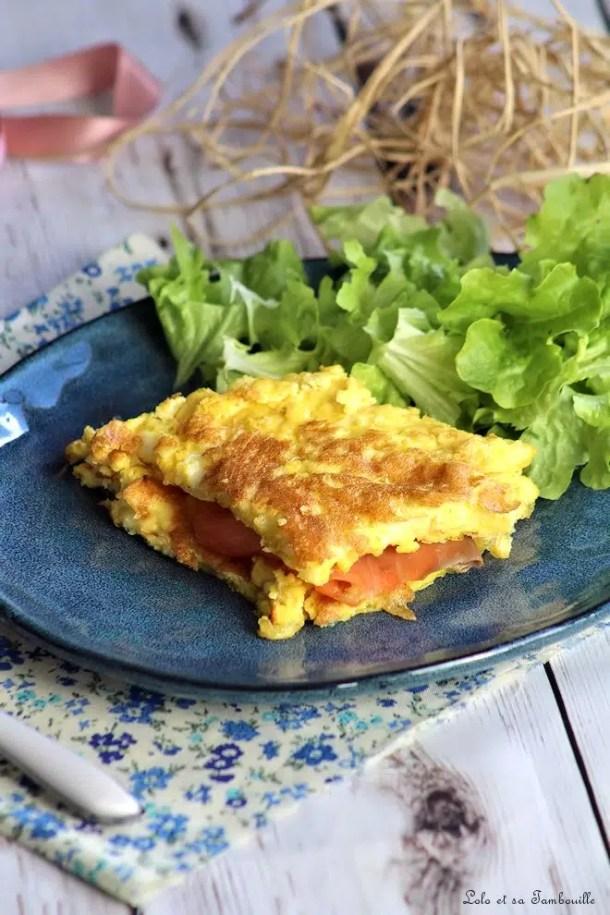 Tortilla à la mozzarella & saumon fumé