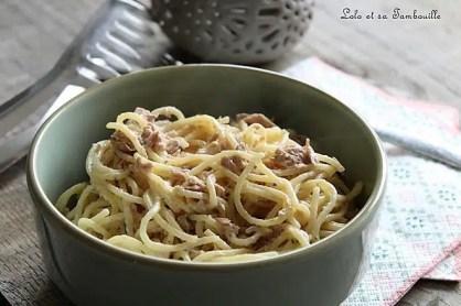Spaghettis à la carbonara légère au thon (4)