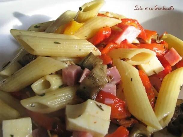 Salade de pennes aux légumes grillés