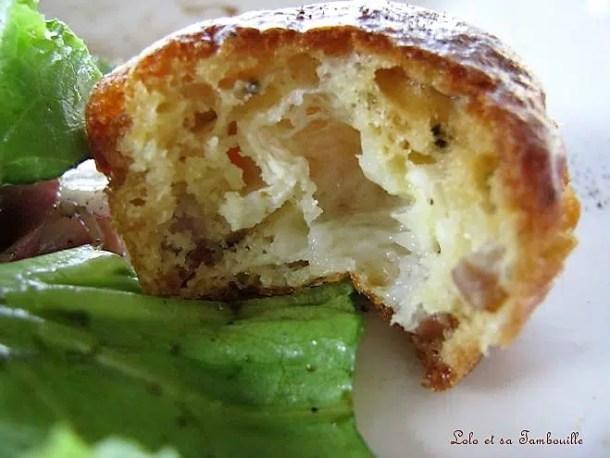 Muffins aux lardons & chèvre