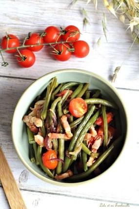 Poêlée haricots verts & lardons (6)