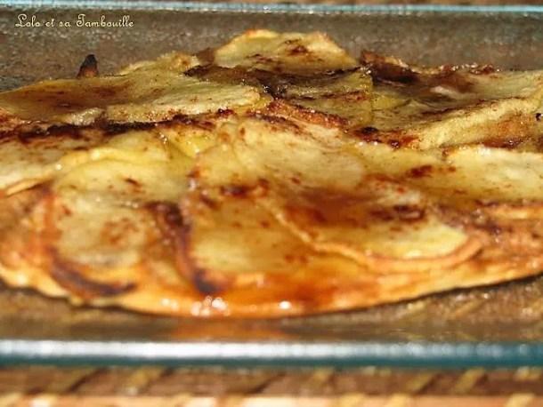 Tartes fines aux pommes, pâte de spéculoos & cannelle