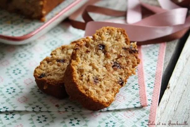Cake à la compote & noix de coco {sans oeufs, sans beurre}