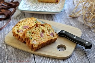 Cake aux carottes & lardons (4)