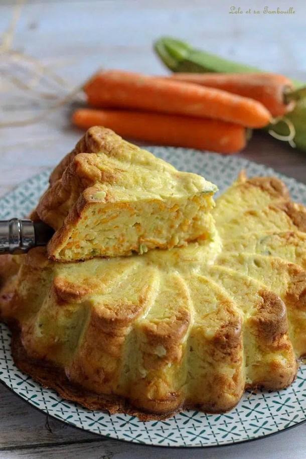 Quiche sans pâte aux carottes & courgette au curry