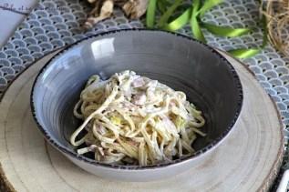 Spaghettis aux poireaux & ricotta (4)