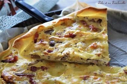 Quche aux champignons, lardons & moutarde à l'ancienne (4)