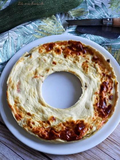 Tarte aux courgettes, saumon & chèvre frais (2)