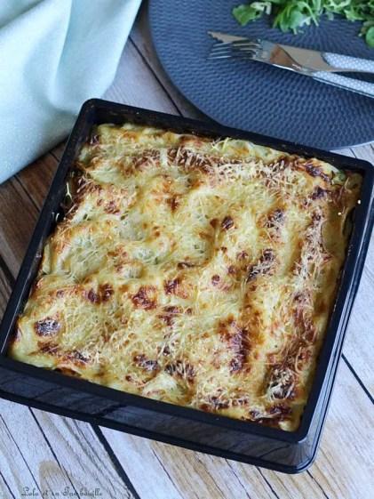 Lasagnes aux courgettes & lardons (2)