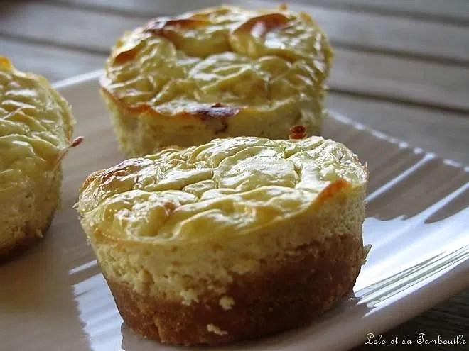 Mini cheesecakes à la moutarde douce & lardons