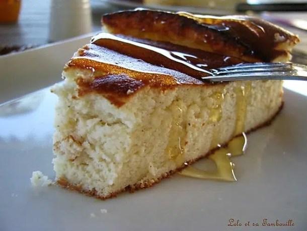Gâteau au fromage blanc à la vanille & miel