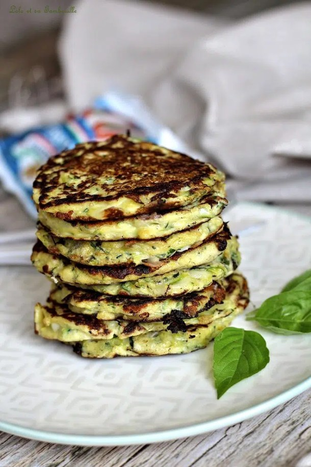 Galettes moelleuses aux courgettes & fromage