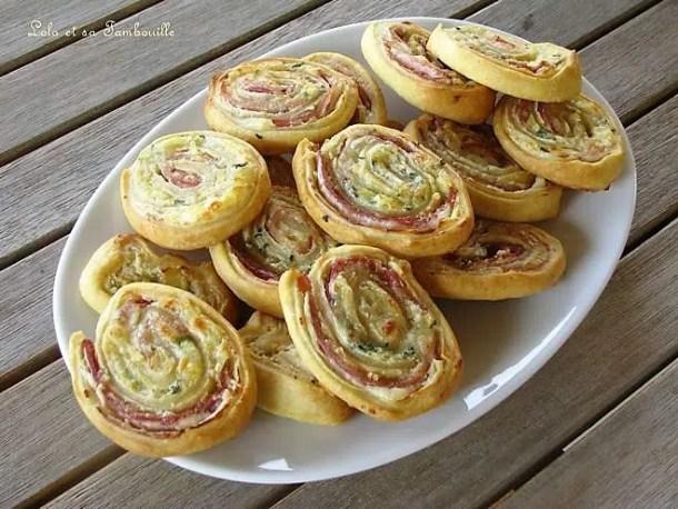 Spirales au bacon & fromage frais
