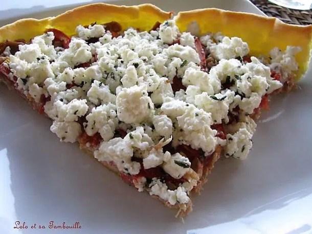 Tarte à la tomate, féta & thon