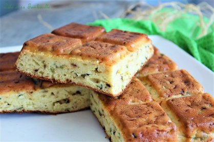 Gâteau aux courgettes & fromage frais (3)