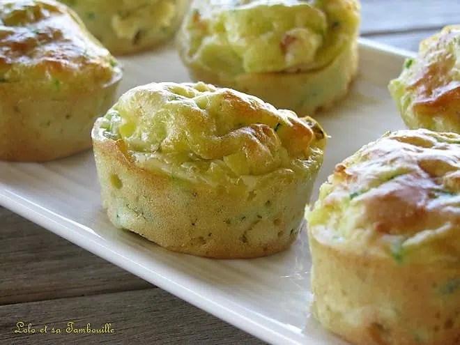 Muffins moelleux à la courgette