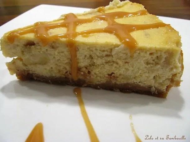 Cheesecake à la banane & caramel