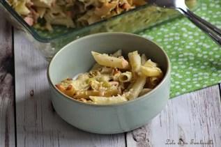 Gratin de pâtes au saumon & poireaux (3)