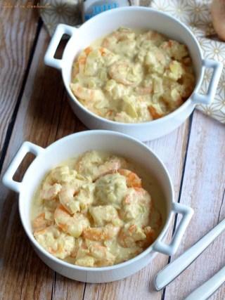 Cassolettes crevettes lait de coco (3)