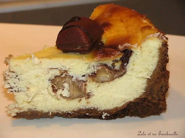 Cheesecake aux Kinder Bueno