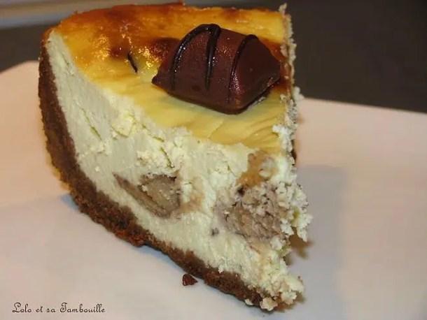 Cheesecake aux Kinder Bueno