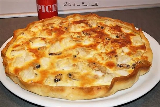 Quiche au cabillaud & fruits de mer