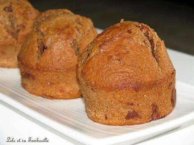 Muffins chocolat au lait