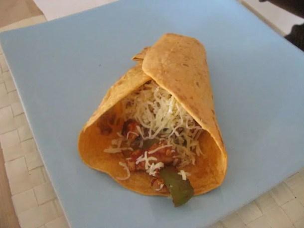 Tortilla au poulet & légumes