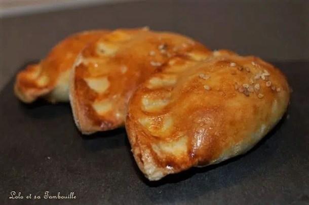 Chaussons aux poivrons, chorizo & chèvre