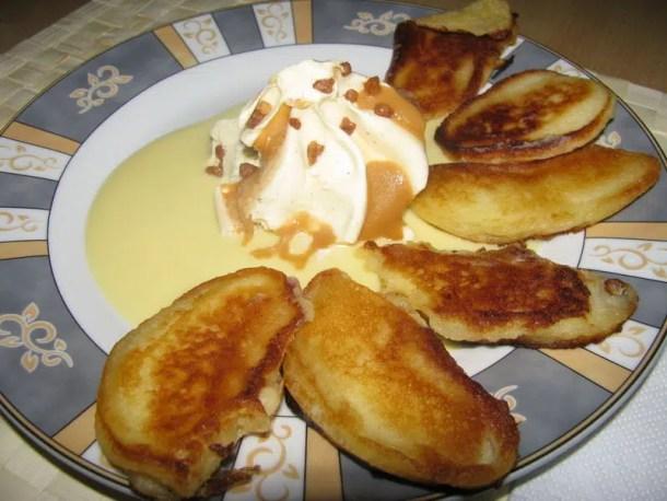 Lamelles de pommes en pancakes {glace pécan & caramel au beurre salé}
