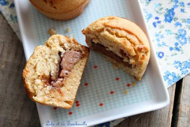 Muffins moelleux au coeur de pralinoise
