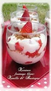 verrines de fraises et fromage blanc vanillé angie